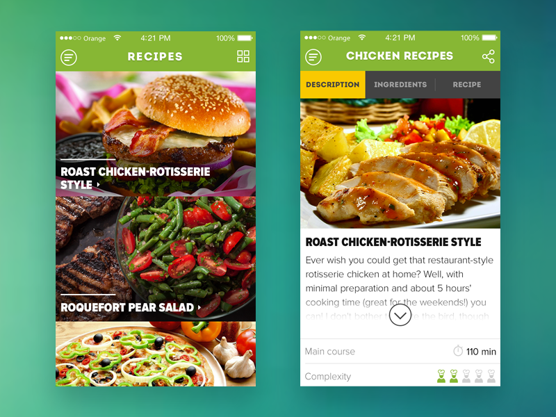 Culinaryon iOS app #WIP