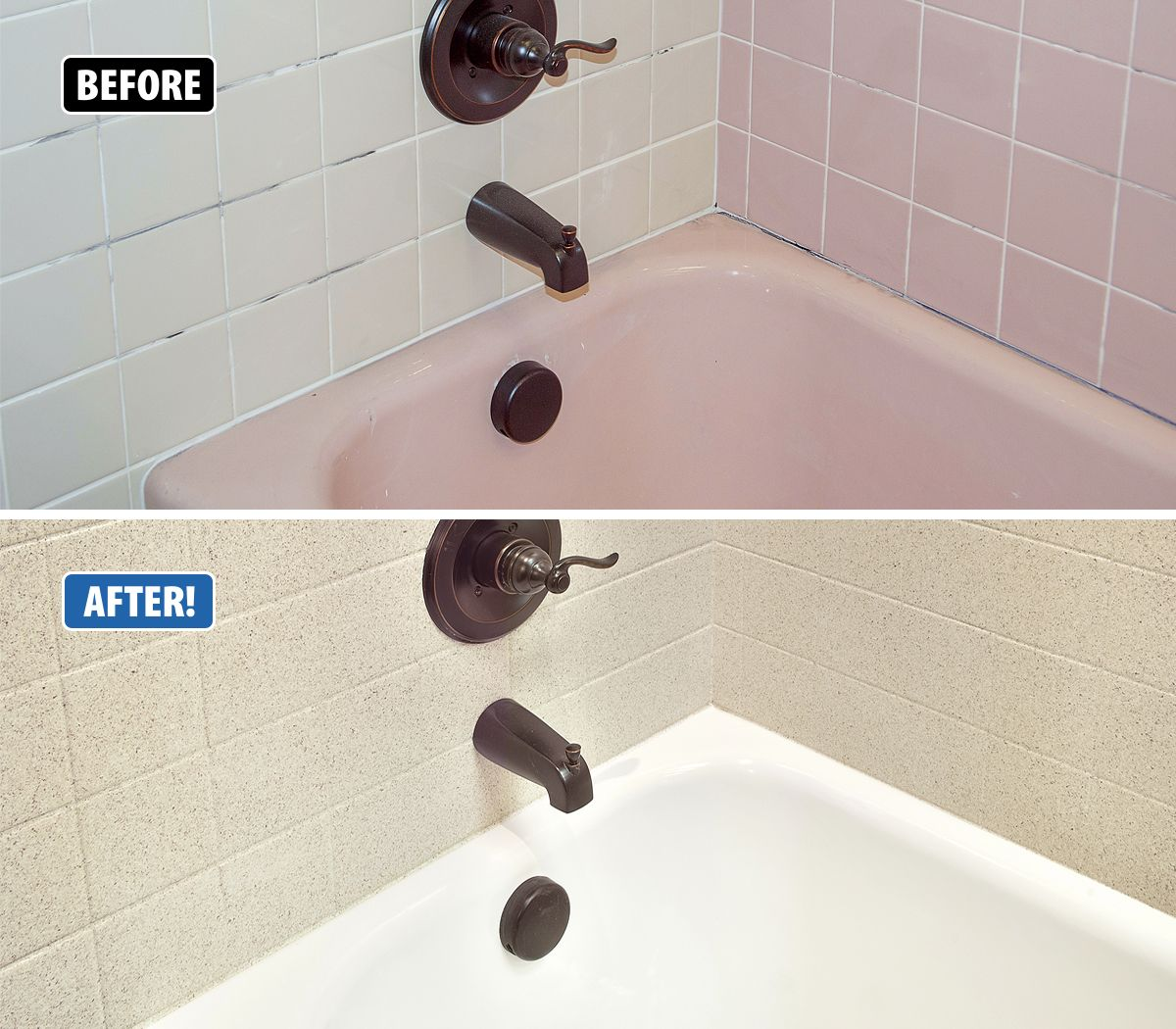 Is your tub and tile surround outdated? Back in the day, pink ...