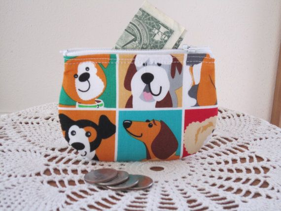 Coin business card clutch zipper small essential oils case gift card coin business card clutch zipper small essential oils case gift card holder dogs in made in colourmoves