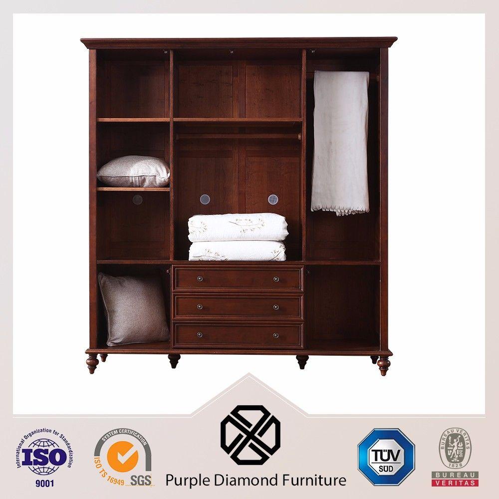 Muebles De Dormitorio De Madera Maciza Armario Ropero Guardarropas  # Muebles Roperos