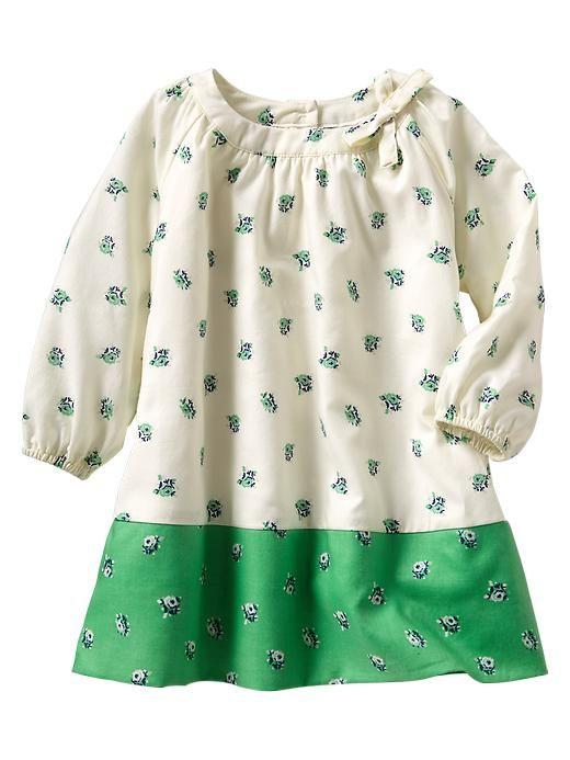 Gap | Floral colorblock dress