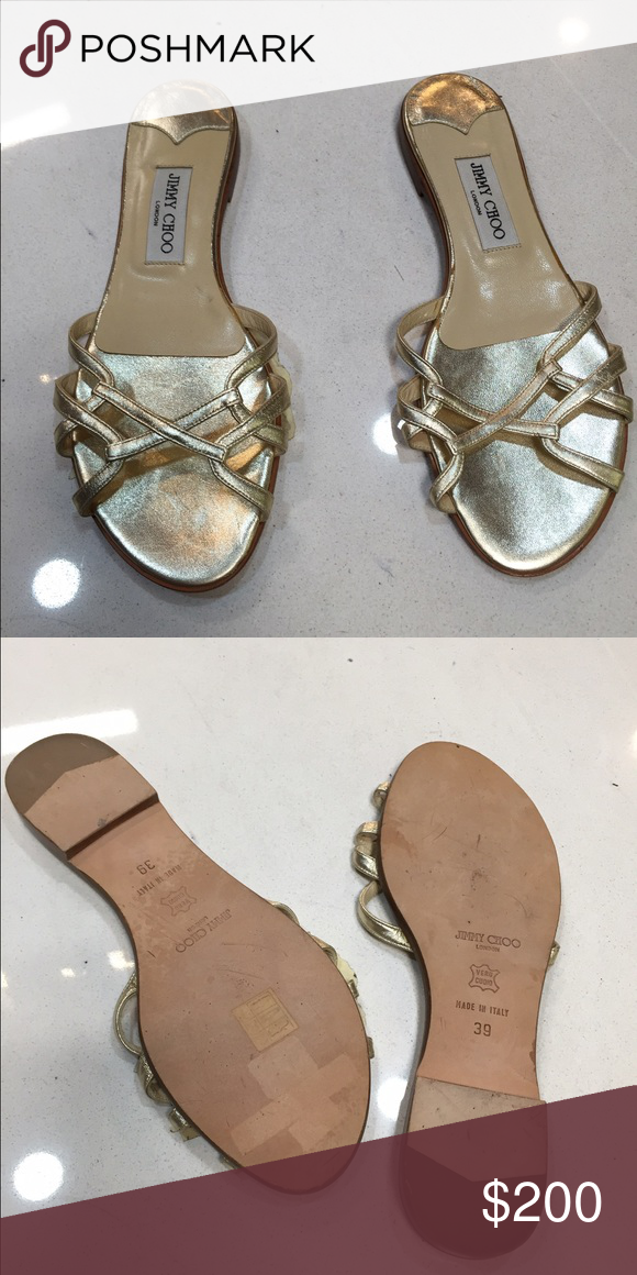 d070917b37b6 JIMMY CHOO Sandals size 39 JIMMY CHOO Gold Sandals size 39 Brand New never  been worn Excellent condition Jimmy Choo Shoes Sandals