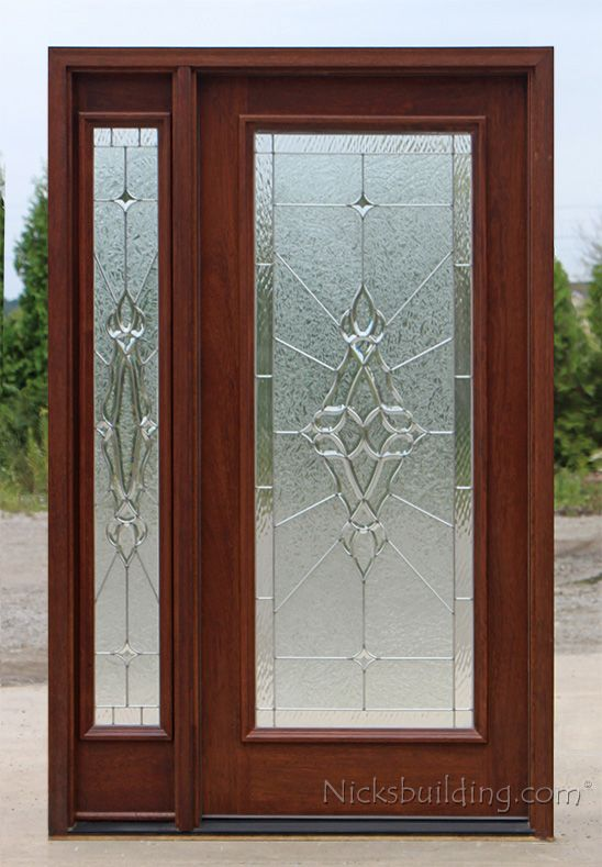 Exterior Entry Doors With 1 Sidelight   Solid Mahogany Entry Doors