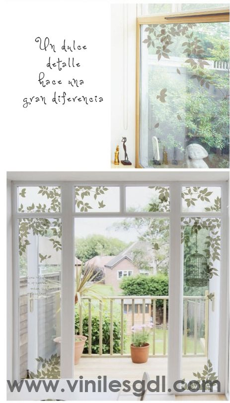Viniles decorativos para ventanas esmerilado un detalle - Cristales decorativos para paredes ...