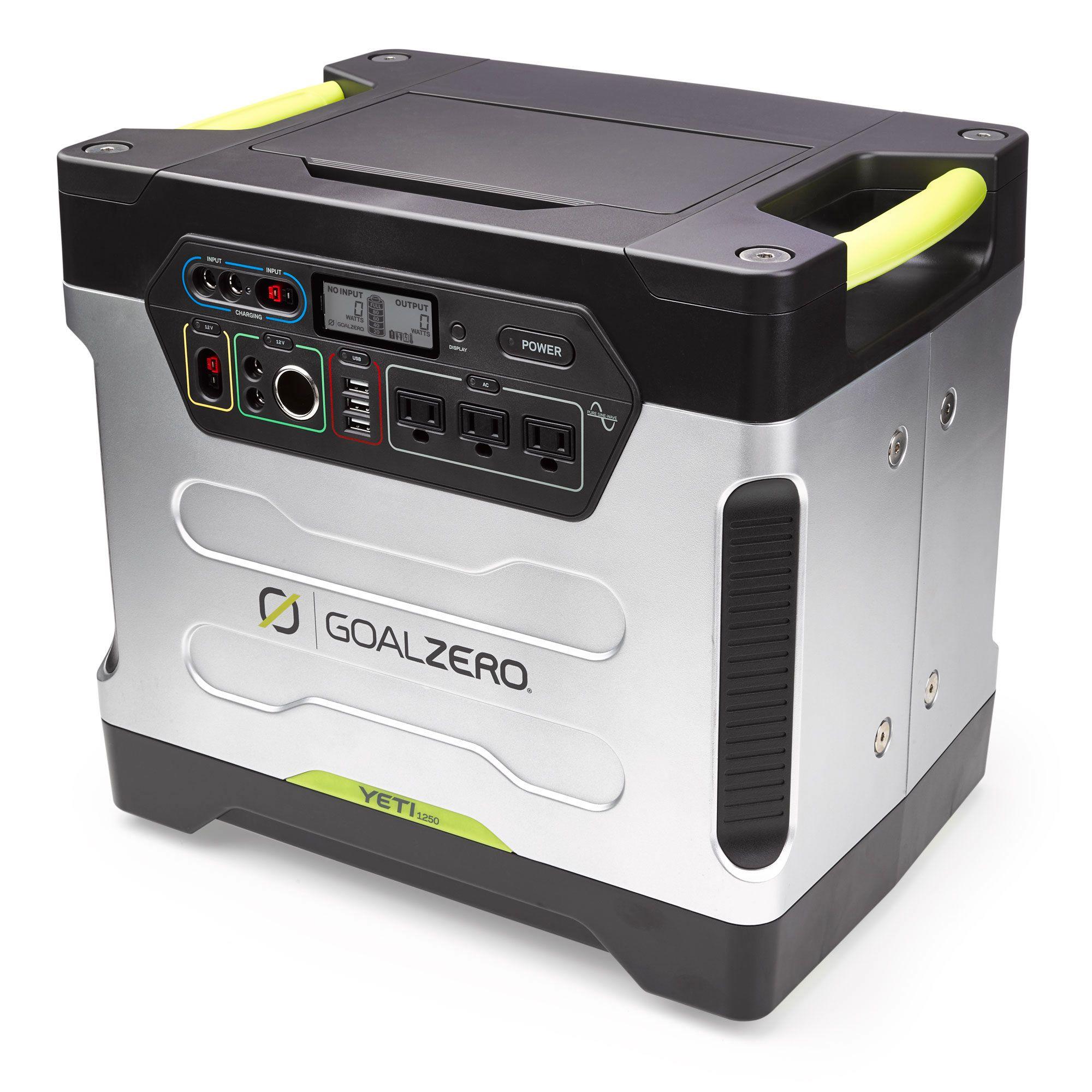 Yeti 1250 Portable Power Station Solar Generator Goal Zero Goal Zero Solar Panels Solar Power Panels Best Solar Panels