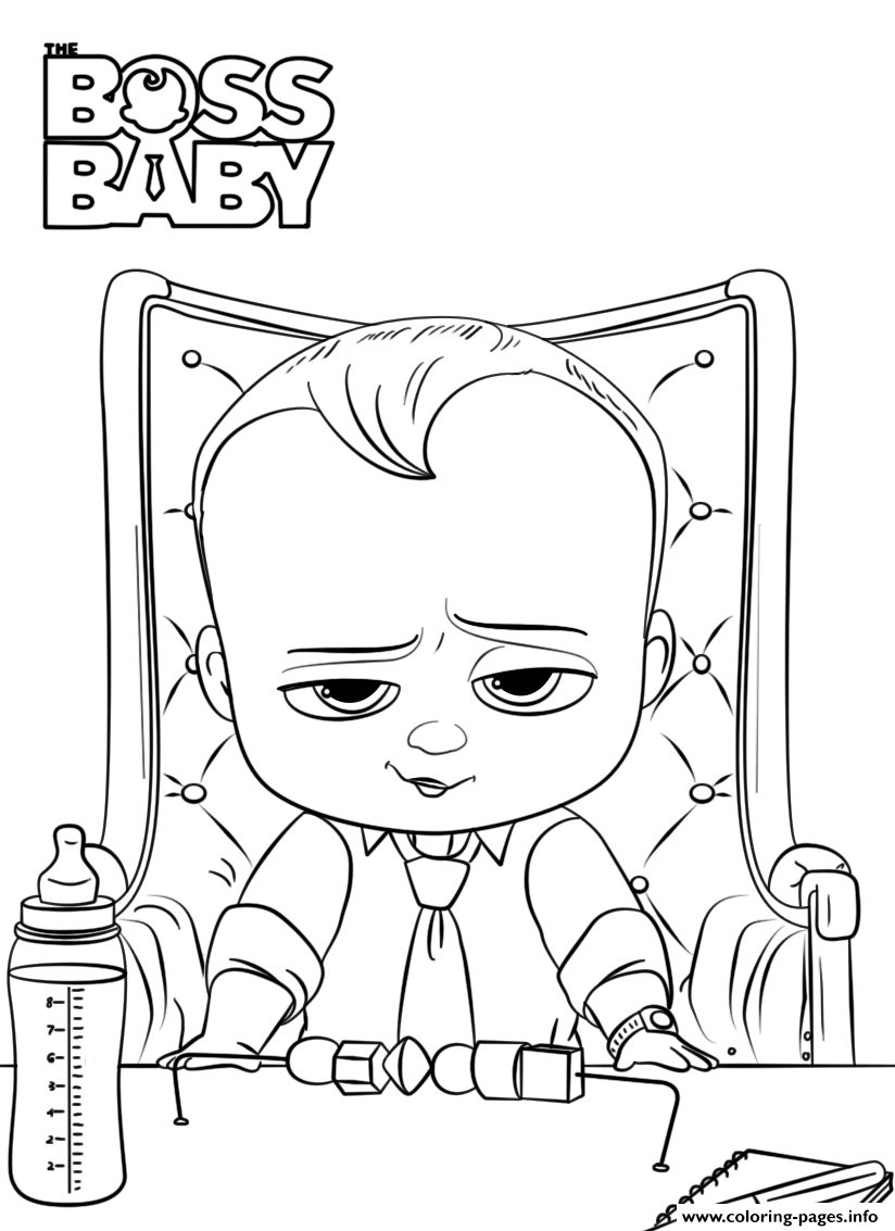 Print Boss Baby 2 Like A President Coloring Pages