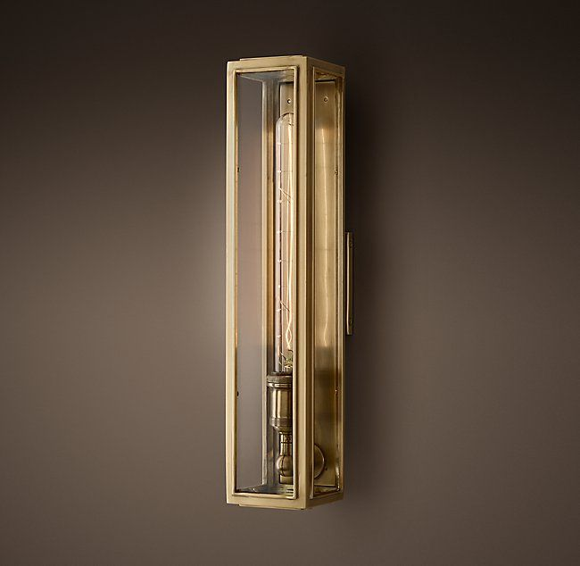 Union Filament Clear Glass Narrow Tall Sconce | Travis Upstairs ...