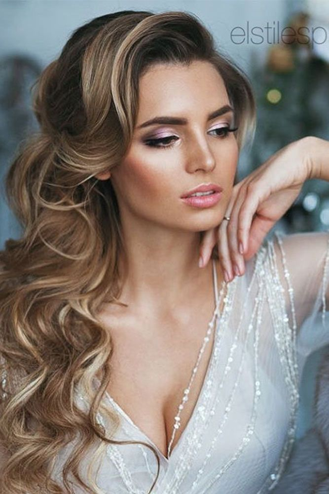 70 Romantic Wedding Hair Styles For Your Perfect Look Long Hair Styles Hair Styles Romantic Wedding Hair
