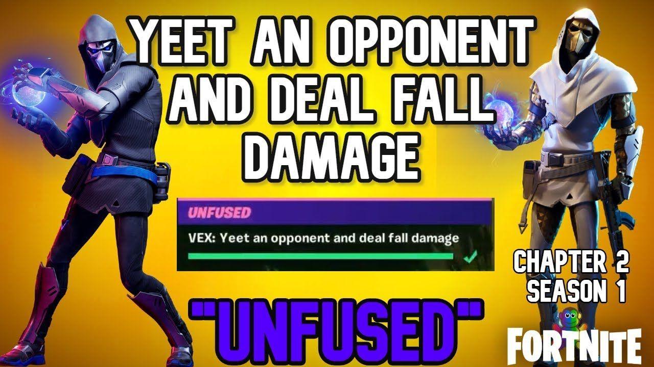 Fortnite Yeet An Opponent And Deal Fall Damage Chapter 2 Season 1 Ve Fortnitechapter2 Fortnitegame Fortnite Contentcreator Fortnite Chapter Season 1