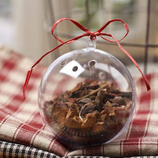 Christmas Ornament Craft Clear Balls : Mm clear acrylic fillable potpourri ball ornament