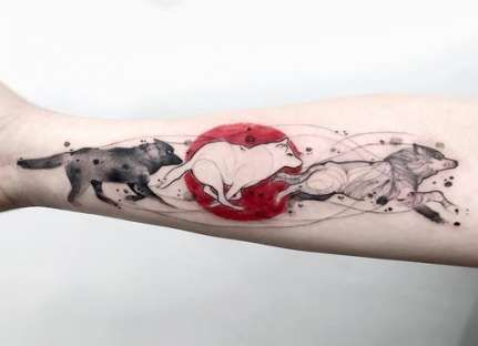 31+ Trendy Tattoo Wolf Moon Artists