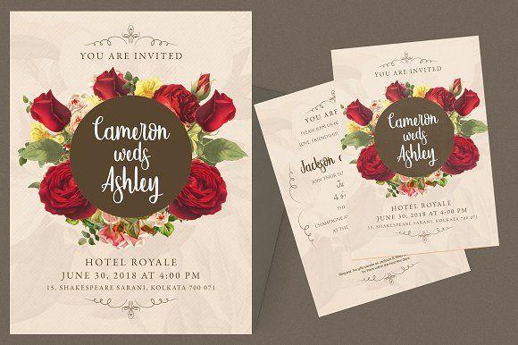 Floral wedding invitation card wedding invitation cards and floral wedding invitation card wedding invitation cards and graphic design templates stopboris Choice Image