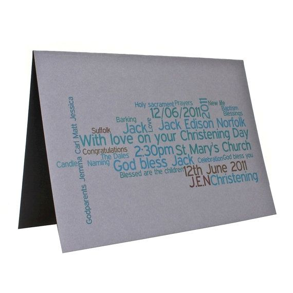 Personalised Christening/Baptism Card  £7.95 designed and despatched within 24 hours