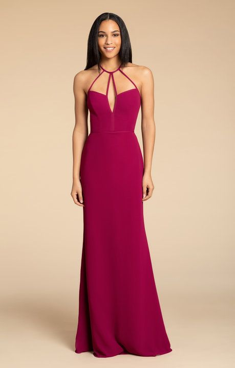 599ebfdb3b82 Style 5911 Hayley Paige Occasions bridesmaids gown | Azalea chiffon A-line  gown, strap