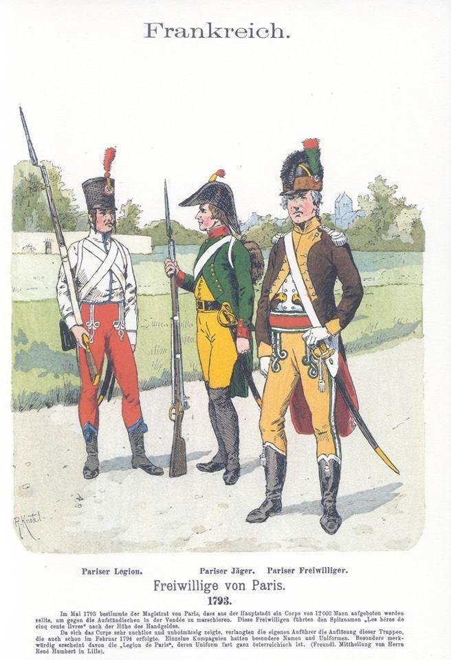 Band V #55.- Frankreich. Freiwillige von Paris. 1793.
