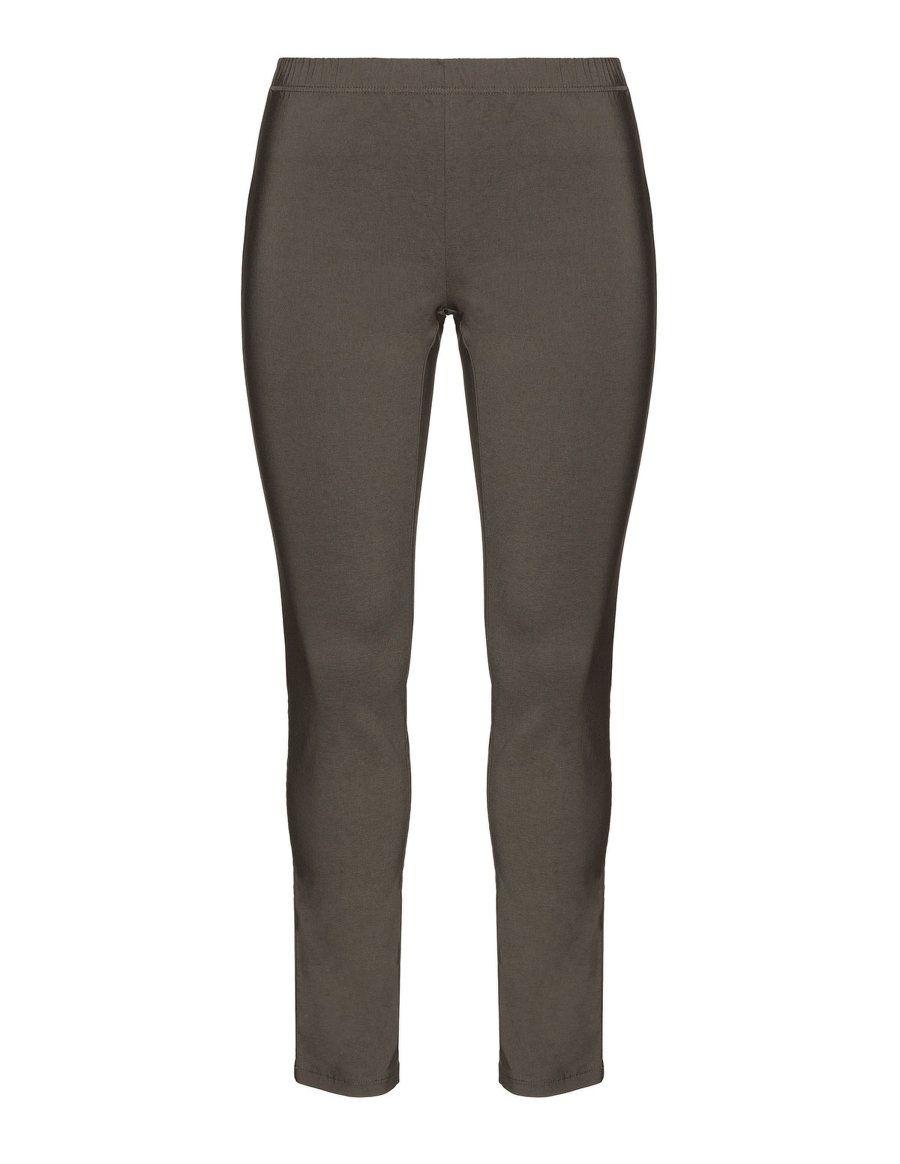 Zhenzi Legging Fit Hose Mit Gummibund In Taupe Grau Nice Design