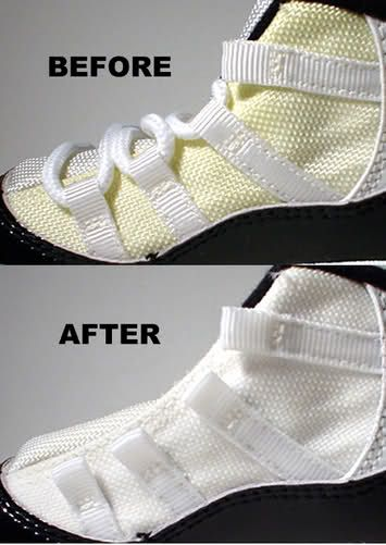 After a while the mesh on your shoes start to get very dirty if you go