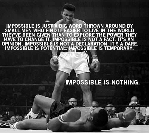 Boxing 20 The Difference Between Impossible and Possible Motivational Picture