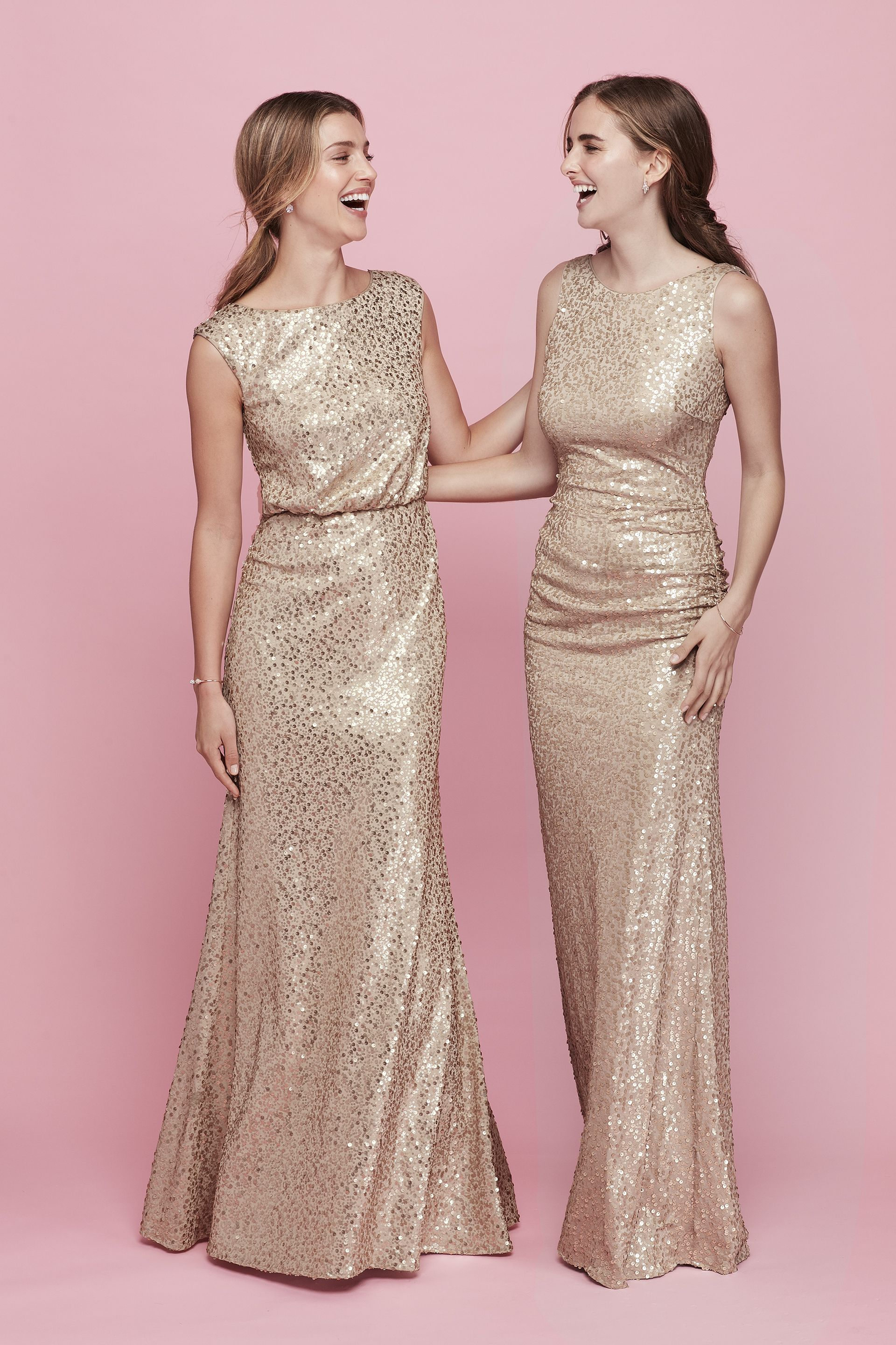 Sparkly bridesmaid dresses, glittery dresses | Bridesmaids | Pinterest