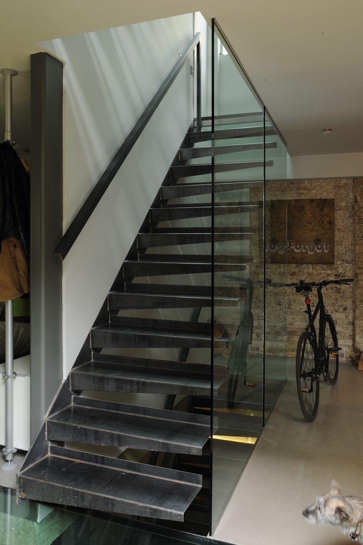 Marta Nowicka   Steel Cantilever Staircase   Warehouse Conversion Warehouse  Conversion, Black Box, Industrial