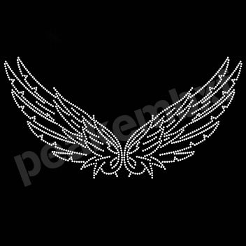 Wholesale 30Pcs/Lot Bling Bling Iron On Wing Transfers For Clothing