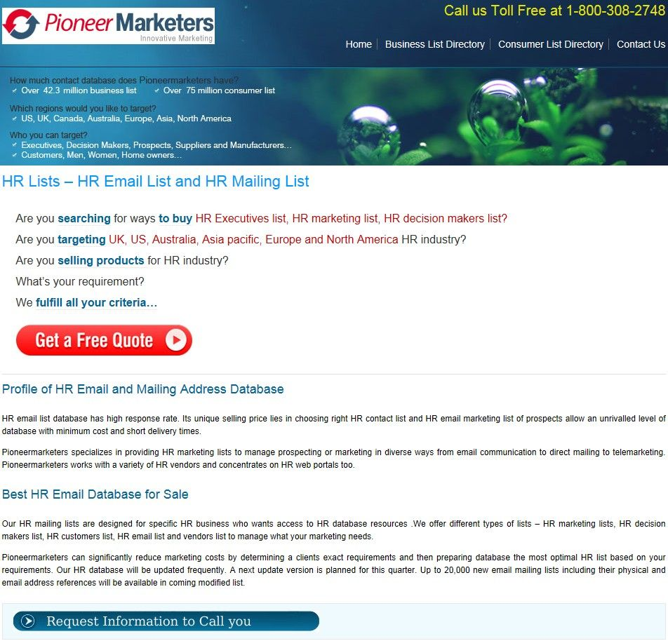 Medical List From Pioneermarketers  HttpWwwPioneermarketers