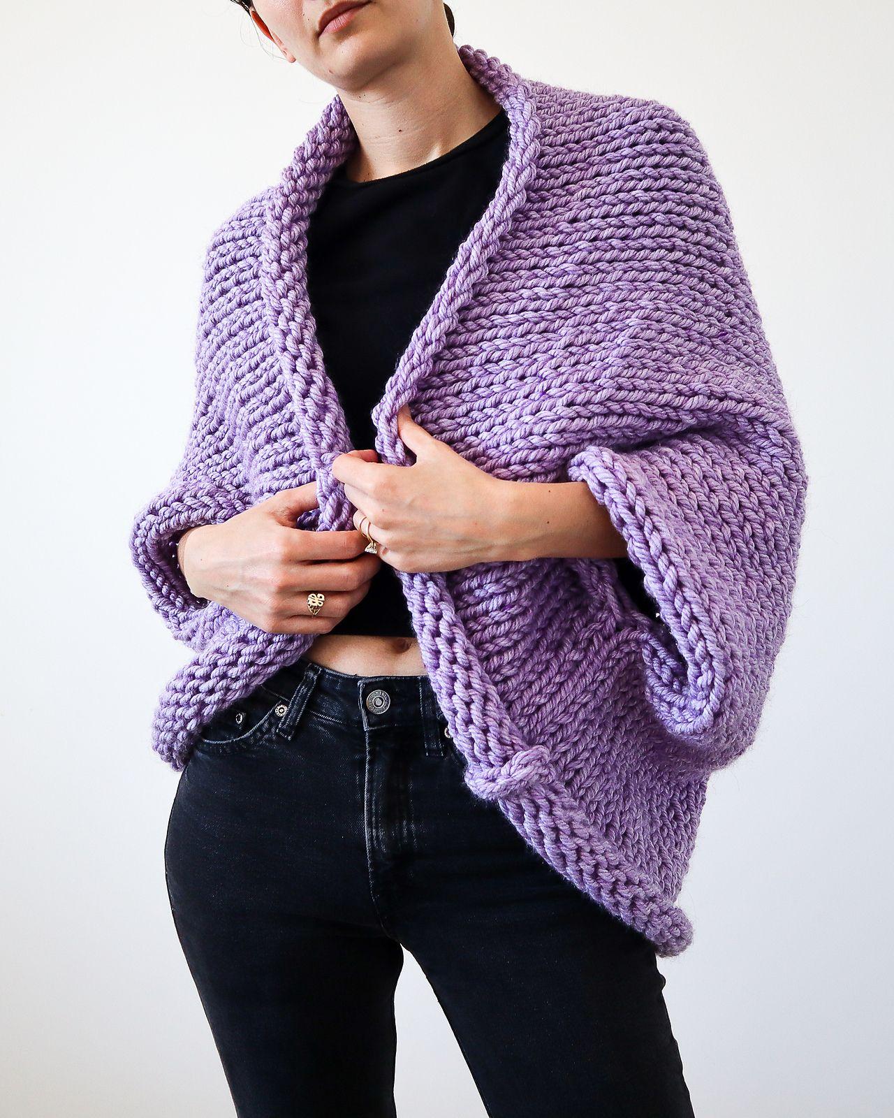 Super Chunky Slouchy Shrug in 2020   Shrug knitting ...
