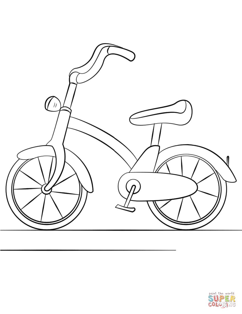 Bicycle Coloring Page Free Printable Coloring Pages Kids Coloring Books Free Halloween Coloring Pages Coloring Pages