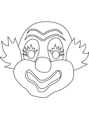 Circus Printable Coloring Masks Clown Mask Bear Mask Monkey