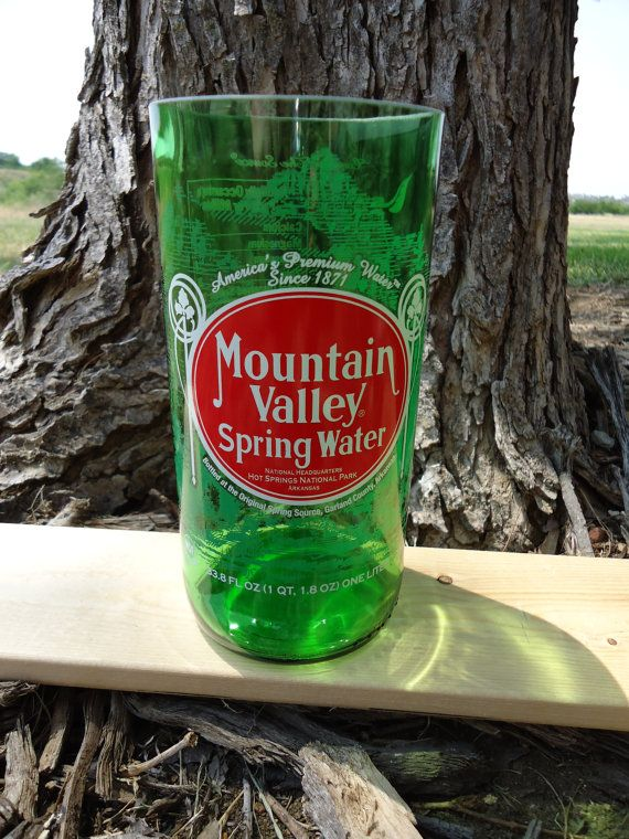 Large Green Glass made from Upcycled Mountain by ConversationGlass