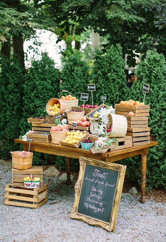 Fruit Stand Etizers At A Wedding