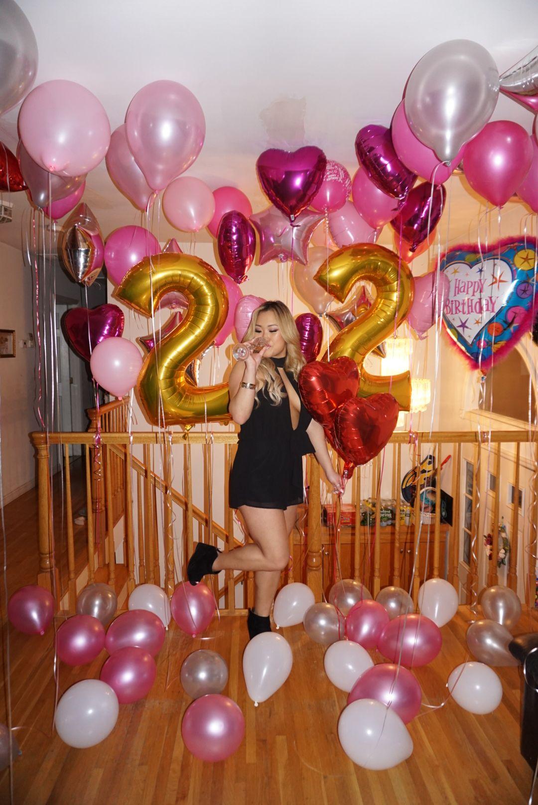 22nd birthday Birthday balloons Number balloons Birthday