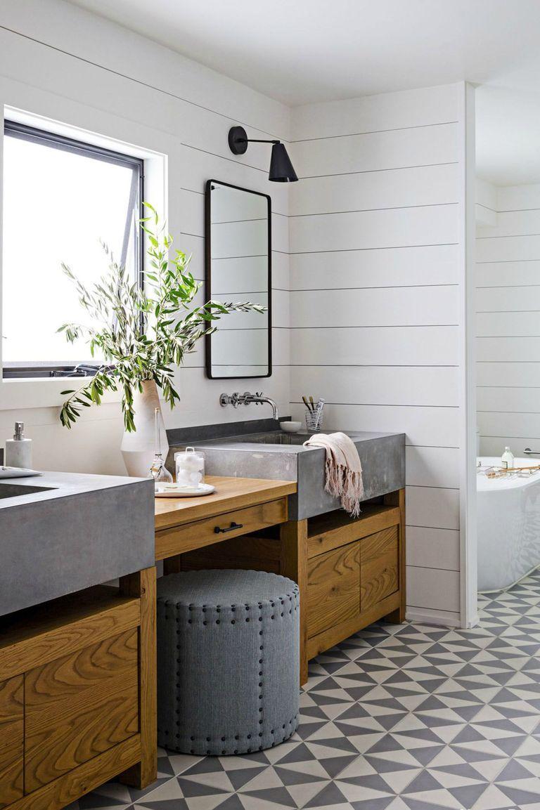 45 Bathroom Tile Ideas Bath Tile Backsplash And Floor Designs In 2020 Bathroom Tile Designs Unique Bathroom Tiles Farmhouse Bathroom Decor