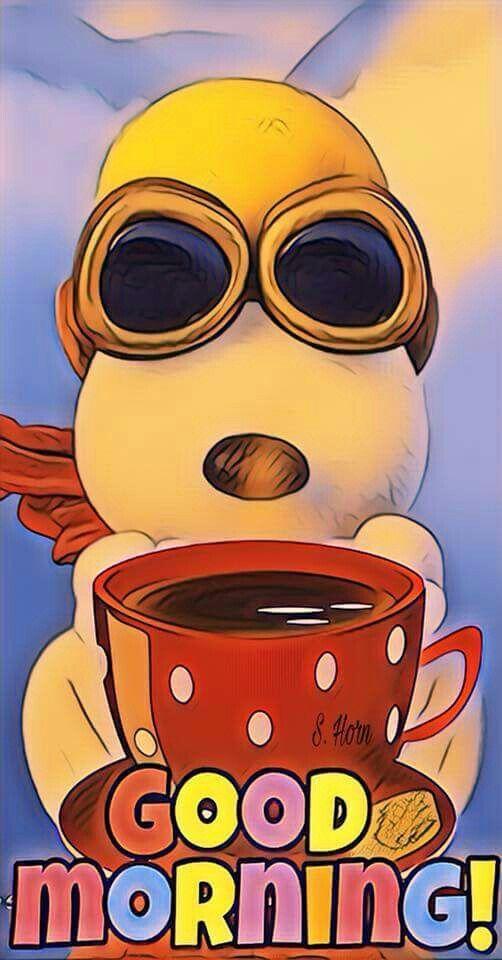 Morning Coffee Snoopy Guten Morgen Good Morning Snoopy
