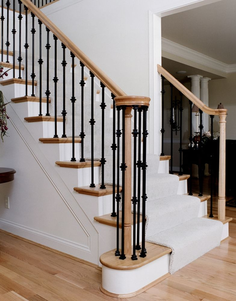 Best Iron Stairways Systems Wood Stairs Banister Remodel 400 x 300