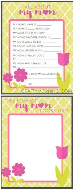 All about mom or grandma questions free mothers day printables for all about mom or grandma questions free mothers day printables for kids to fill out maxwellsz