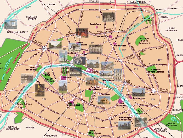 mapa de paris com monumentos Monumentos em Paris, França | Paris | Pinterest | Paris map, Paris  mapa de paris com monumentos
