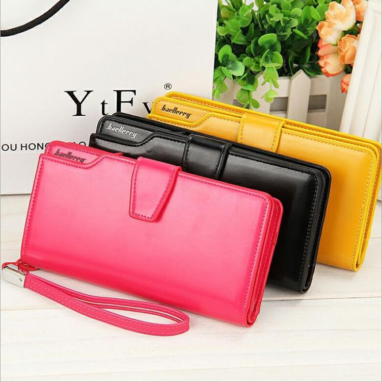 41f3fc024a203 PU Leather latest design ladies fancy hand purse With 8 Colors Phone Card