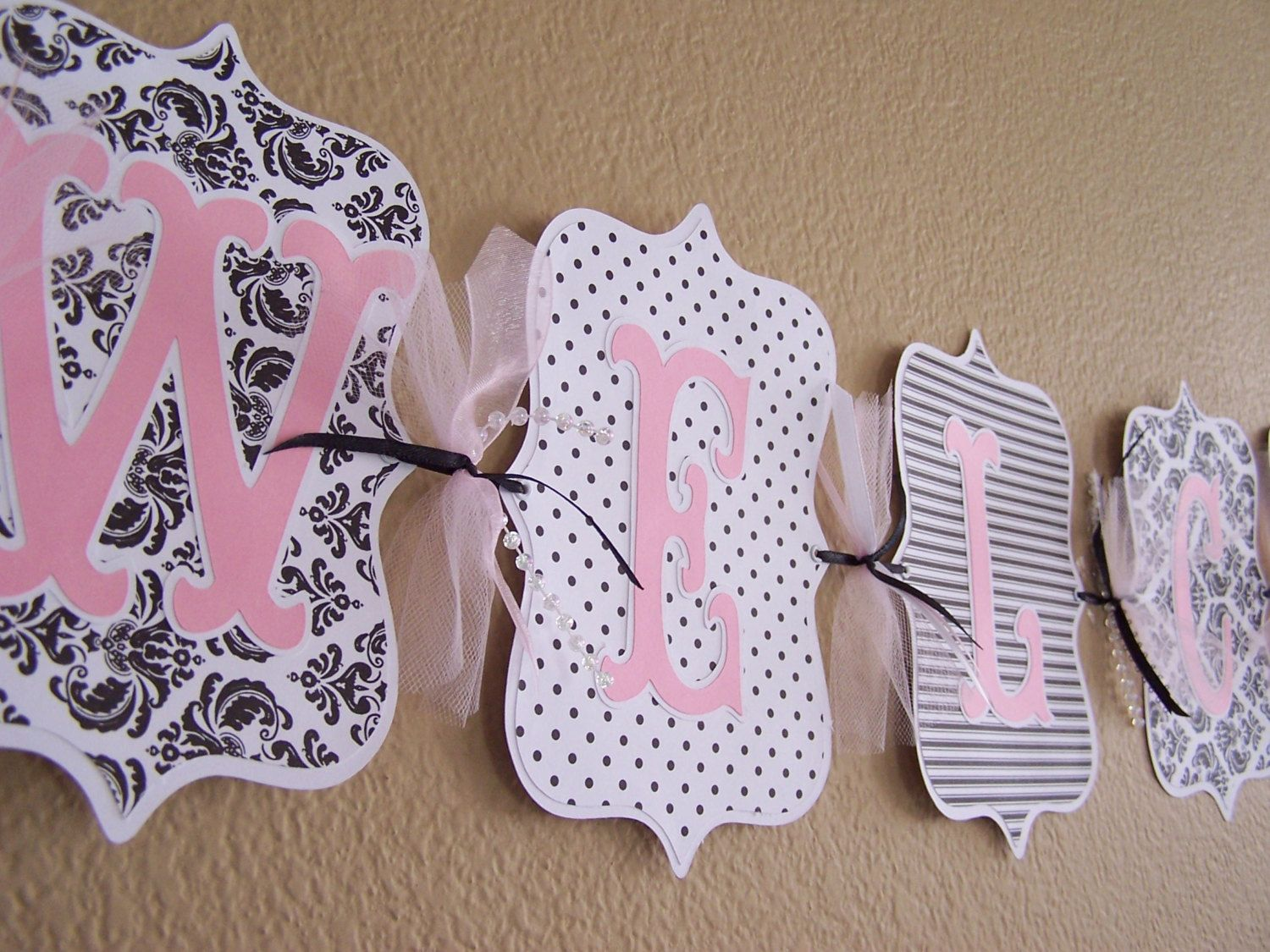 baby shower it/'s a girl personalized name clothing dress pink banner