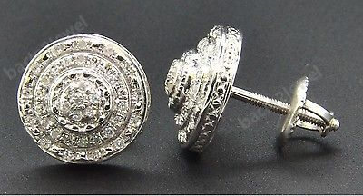 0.25CT Round Diamond /& Topaz Butterfly Stud Earrings 14k White Gold Screwback