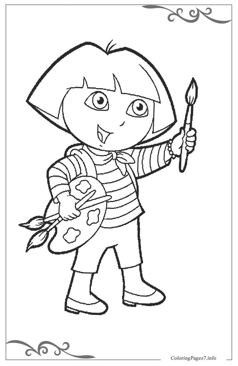 Dora the Explorer Printable Coloring Pages for Kids