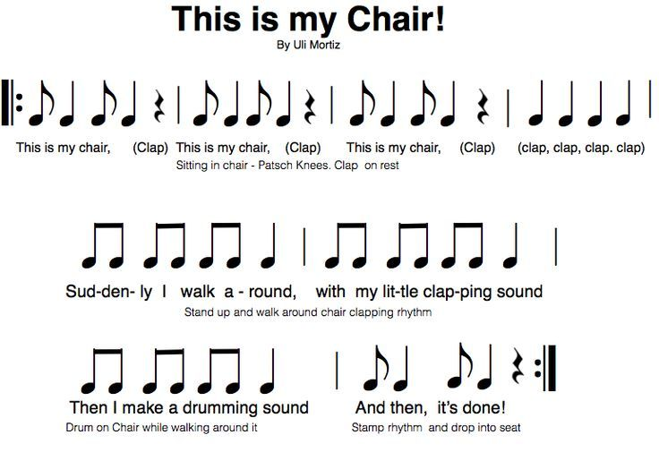 This is my Chair by Uli Mortiz is a fun activity I got from the Orff