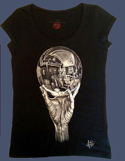 T Shirt dipinte a mano, T Shirt disegnate a mano