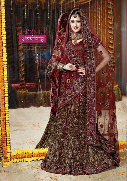 Overview:  Item Code-MME145513  Work-embroidery  Style Color-Maroon Weight-4.5 Gms  Fabric-Net  OccasionParty