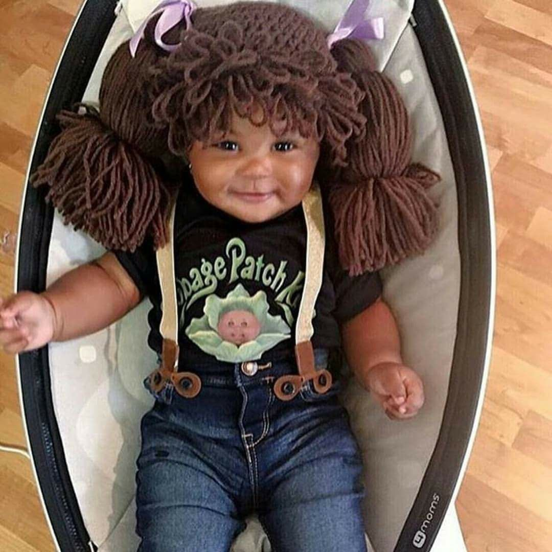 A real live cabbage patch doll baby cuteness Cabbage