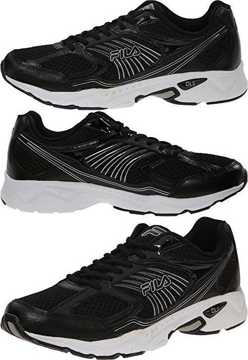 f8a6f9423 Fila Men's Inspell Athletic Sneakers, Black Leather, Mesh , 12 M ...