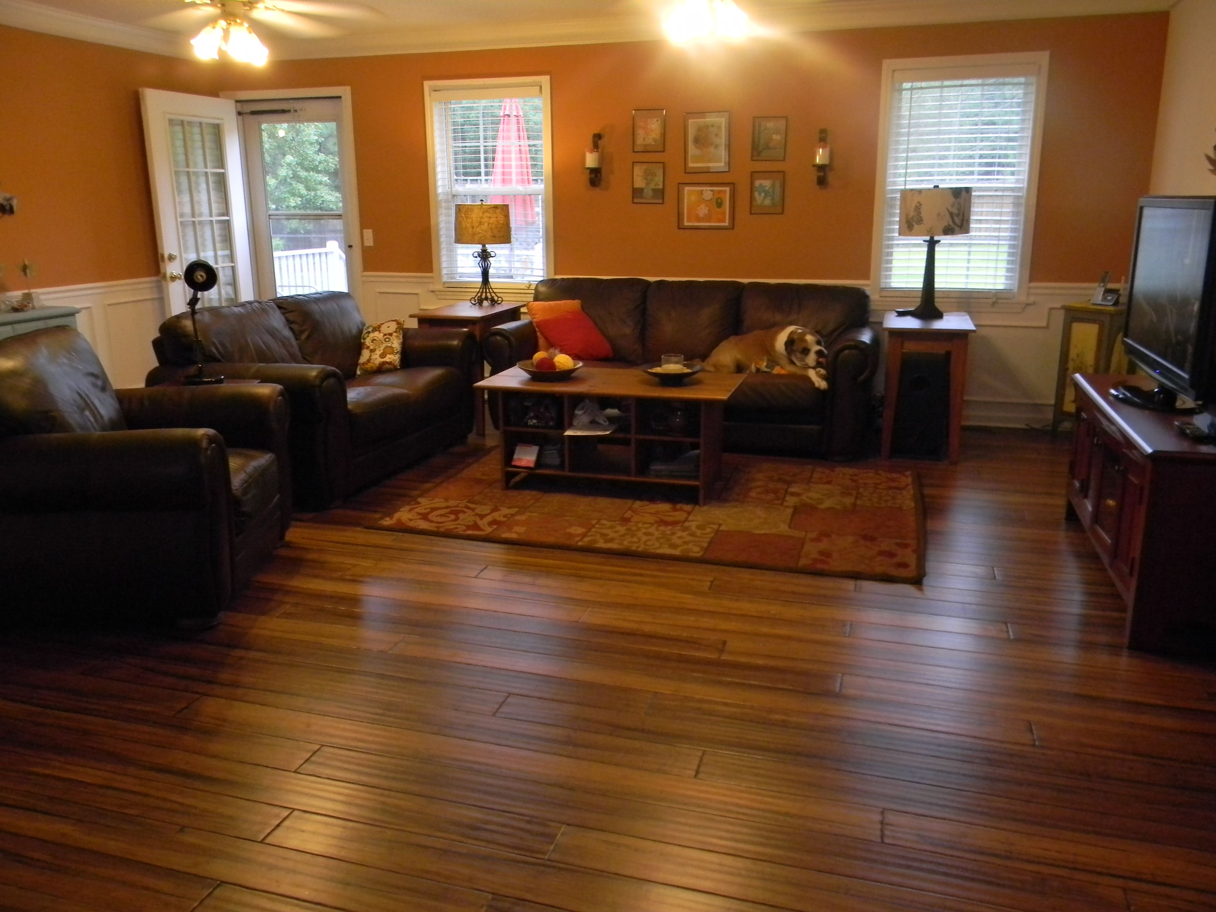 Our New Hardwood Floors That We Installed Ourselves Bamboo Flooring Hardwood Floors Flooring