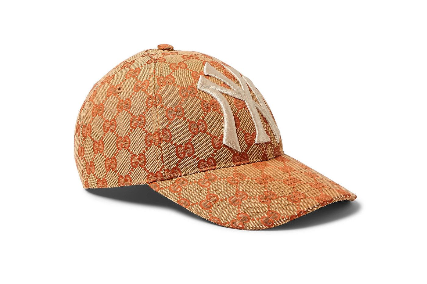 203965c9511283 Gucci New York Yankees Edition GG Supreme Patch Cap Release Info Date Brown  White NY Red accessories caps monogram GG italian fashion