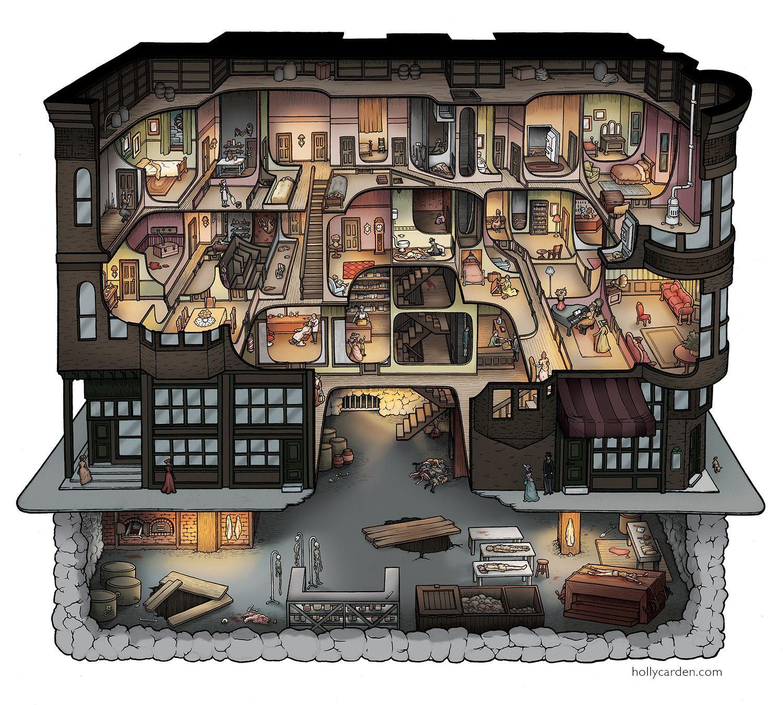 Interesting depiction of H. H. Holmes murder castle. | Castles and ...