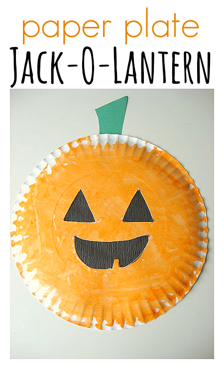 Paper Plate Jack-O-Lantern & Easy Halloween Craft and Activities - No Time For Flash Cards